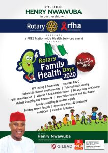 Nwawuba partners Rotary International, Extends Free Medical Care to Ikeduru Constituents
